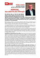 Adresse de Pierre Laurent aux salariés de l'énergie