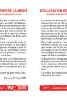 Déclaration de Pierre Laurent