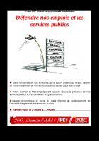 Défendre nos emplois et les services publics